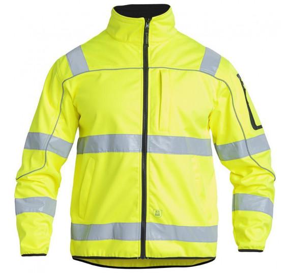 FE-Engel EN 20471 Softshelljacke, 1153-237, Farbe Gelb, Größe 4XL